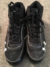Under Armor Black Baseball Cleats, Size 9