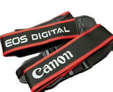 Black/Red Embroidered EOS Digital Style Camera Neck Shoulder Strap DSLR UK STOCK
