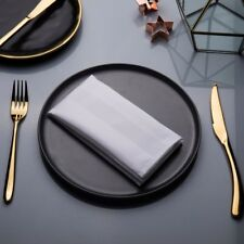 Luxury 1000 Tread Count 6/12PCS Napkins Dinner Table Cloth Wedding Party Hotel