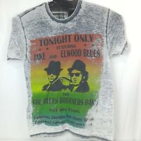 The Blues Brothers Burn Out T Shirt Thin Gray House Blues Music Concert Poster
