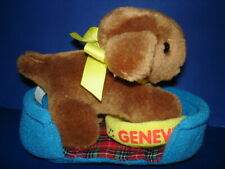 Madeline's Genevieve Plush Puppy Dog & Bed with Dog Bowl Eden 1994