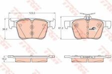 GDB1957 TRW Brake Pad Set, disc brake Rear Axle
