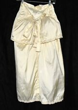 Victorian 1800c Maxi Bustle Slip with Pearl Trim Tie Closure and Kremlin Size S