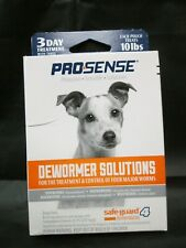 PROSENSE DEWORMER SOLUTIONS DOGS ONLY EACH POUCH TREATS 10 LBS. NIP