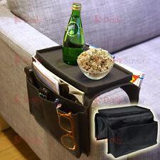 Sofa Arm Rest Organiser Magazine Organizer Remote Holder Snack Tray 6 Pockets