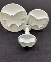 Lot of 3 Butterfly Clay Crafting Embossing Paper Punches