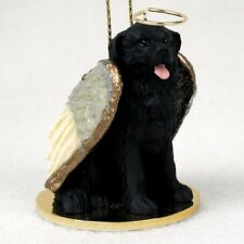 Newfoundland dog Angel Ornament Hand Painted Resin Figurine Christmas puppy New