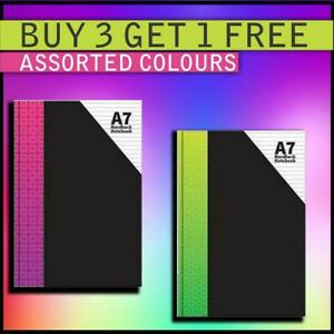 HardBack A7 Note Book 1 Assorted Colors Boy Girls Office School Use Book
