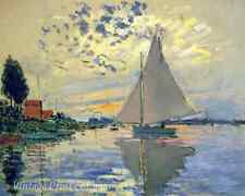 Sailboat at Petit Gennevilliers by Claude Monet - Art Water Sky  8x10 Print 1004