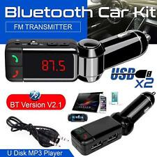 Bluetooth Car FM Transmitter AUX Radio Adapter Dual USB Mobile Charger