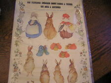 Vintage Embossed Bunny Rabbit & Friends Cut Outs & Costumes Paper Dolls~New!