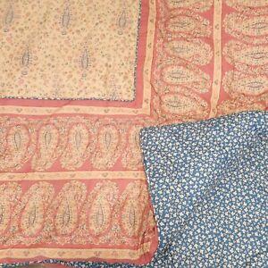 Ralph Lauren Chaps Montauk Studio Paisley Full Queen Comforter Red Blue