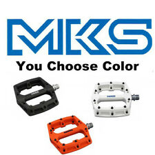 MKS Gauss Resin MTB Platform Pedals w/Pins Street and Mountain Bike Choose Color