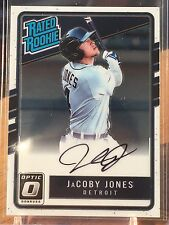 2017 Optic Rated Rookie JaCoby Jones Autograph Auto Signed TIGERS RC