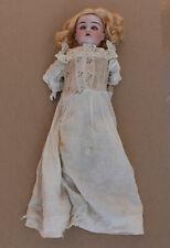 "Antique DRP Germany 18"" Porcelain Head Doll Sleep Eyes Dress Blonde Excelsior?"