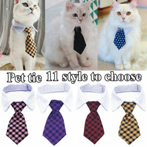Dog Bow Tie Pet Adjustable Striped Necktie Cat Grooming Accessories Fashion Cute