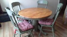 Unbranded Pine Round Table & Chair Sets