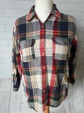 Vintage ST Michael M&S Check Casual Lumberjack Thick Shirt size 14