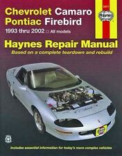 Haynes Chevrolet Camaro Pontiac Firebird 93-00 Repair Manual WORKSHOP Z28 V6 V8