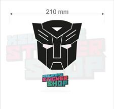 2 x Transformers autobot car vinyl decal sticker VW JDM