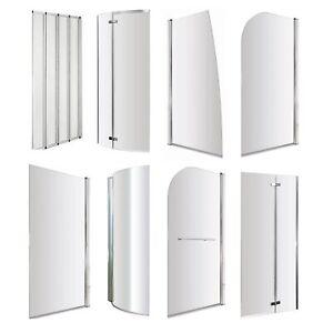 VeeBath Bath Screens Glass Panel Enclosure Shower Screen - All Shapes and Sizes