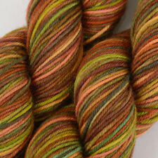*100g*Hand-Dyed BRITISH SOCK WOOL*4 Ply Brown Green Multi.knitting yarn.lace