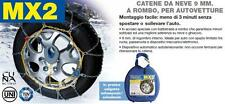 CATENE NEVE AUTO AUTOMATICHE MX2 9mm ROMBO GR 6 155/80-15