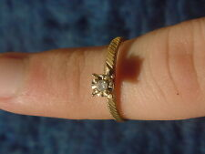 10k Solitaire Diamond Ring Size 6 3/4