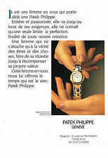 PUBLICITE ADVERTISING 064  1990  PATEK PHILIPPE collection montre femme NAUTILUS