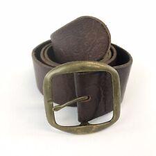 "Vtg Gap Jeans Unisex Brown Leather Jeans Trouser Belt Size M  41"" Long Made USA"