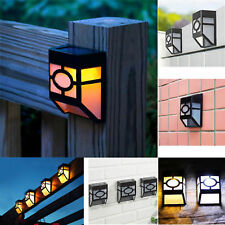 Outdoor Landscape Pathway Fence Solar Powered Wall Mount LED Warm Light