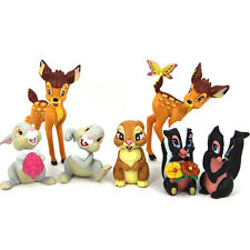7 DISNEY BAMBI THUMPER FLOWER ACTION FIGURES KID FIGURINES TOY CAKE TOPPER DECOR