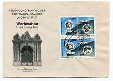 1966 Vreinigung Frankfurt Briefmarken Sammler Moenus Werbeschau DDR SPACE NASA