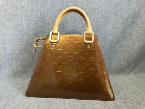 Authentic Louis Vuitton Vernis Forsyth Bronze M91113 Hand bag