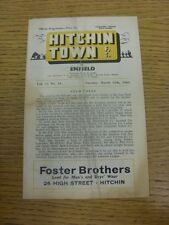 12/03/1963 Hitchin Town v Enfield  (creased, Folded, Worn, Marked).  This item i