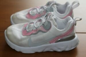 NIKE RENEW SIZE UK 6.5 EUR 23.5 BABY GIRLS WHITE TRAINERS VERY GOOD CONDITION