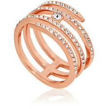 Swarovski Creativity Coiled Rose Gold-Plated Ring - Size 8
