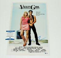 ACTOR NICOLAS CAGE SIGNED 'VALLEY GIRL' 12x18 MOVIE POSTER BECKETT COA NIC PROOF