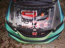 Carbon Fiber+CLEAR Hood Civic Si Sedan (FB6) 2012 13 14 15 Coupe (FG4) 2012 13