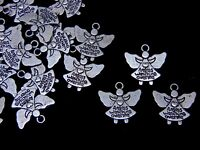 10 x 20mm Tibetan Silver Angel Charms Beads Craft Jewellery Beading Pendant K132