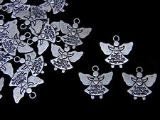 10 Pcs -  20mm Tibetan Silver Angel Charms Craft Jewellery Beading Pendant K132