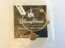 Disney Parks Cinderella Castle Bangle by Alex and Ani in Gold Finish NEW