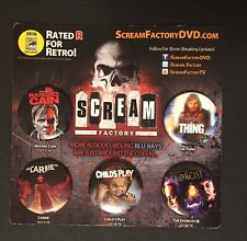 2016 Comic Con Scream Factory Pin Back Exclusive Set Plus Sharknado The 4th