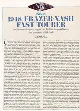 1985 1948 Frazer Nash Tourer - Original Road Test Car Print Article J282