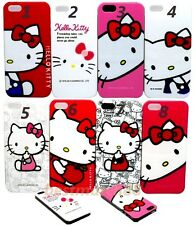 for iPhone 5 5s cute hello kitty case cover skin hot pink red white blue faces