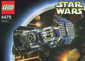 LEGO STAR WARS TIE BOMBER #4479 TIE PILOT MINIFIGURE 100% COMPLETE GUARANTEED