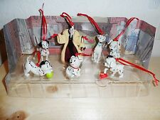 Disney 101 Dalmatians 7pc Custom Ornament Figure Set Cruella Pongo Perdita Lucky