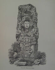 Maya Copan Stela N Honduras Frederick Catherwood Mesoamerican 1881