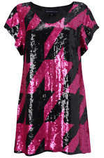 French Connection Black & Pink Dazzi Sequin Party Dress Size 6 fits 8-10*** RARE
