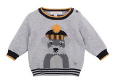Fox & Finch Kids' Woof Dog Sweater - Grey marl
